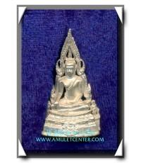 พระพุทธชินราช พระมาลาเบี่ยงเนื้อเงิน รุ่นสอง พ.ศ.2537 พร้อมกล่องเดิม