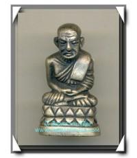 หลวงปู่ทวด รุ่นขุนพันธ์พุทธาคมเขาอ้อ เนื้อเงินยวง สร้าง 1,988 องค์ พ.ศ.2544 สวยแชมป์ กล่องเดิม
