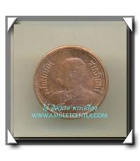 หลวงพ่อเกษม เขมโก เหรียญ ร.๕ หลังช้างสามเศียรเนื้อทองแดง พิมพ์เล็ก คัดสวยแชมป์ พ.ศ.2535