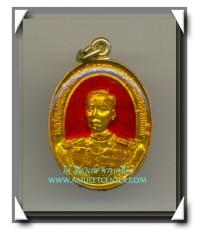 กรมหลวงชุมพรเขตตอุดมศักดิ์ เหรียญเคลือบลงยาแดง รุ่น มูลนิธิ ร.ล.ชุมพร 19 ธ.ค.2529