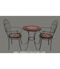 โต๊ะเหล็กดัด+ เก้าอี้เหล็กดัด