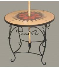 โต๊ะ+เก้าอี้  เฟอร์นิเจอร์เหล็กดัด