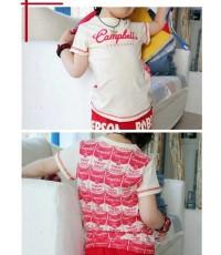 เสื้อยืดเด็กสีแดง Campbell\'s