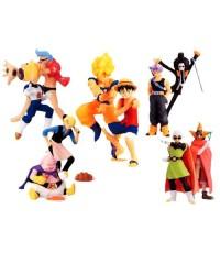 Dragon Ball Z x one piece (set of all five)
