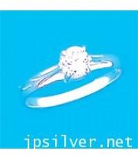 แหวนพลอยขาว เพชรสวิสcz
