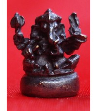 พระพิฆเนศวร์ จิ๋ว เนื้อทองแดงรมดำ พระเครื่อง พุทธาภิเษก ณ พระอุโบสถวัดสุทัศนฯ ปี 2550
