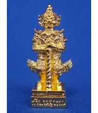 ท้าวเวสสุวรรณ ของหลวงพ่อคีย์ กิตติญาโน รุ่น เศรษฐี มี สุข เนื้อกะไหล่ทอง ออกปี 2550 สวยเฉียบขาด