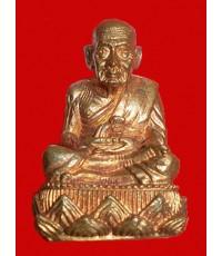 รูปหล่อหลวงพ่อทวด เบ้าฉีด เนื้อนวโลหะ รุ่นสร้างมณฑป อ.นอง วัดทรายขาวเสก ปี 2540 เลขสวย ๘๗๘