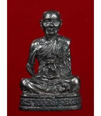 รูปหล่ออุดกริ่งหลวงพ่อจรัญ พิมพ์ใหญ่ เนื้อนวโลหะ วัดอัมพวัน สิงห์บุรี ปี 2540 ของดีที่ต้องบูชา