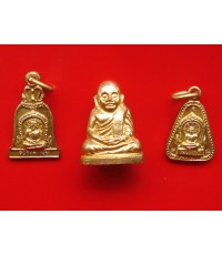 พระชุด 3 องค์หลวงพ่อเงิน บางคลาน รุ่น๙๙ ดาวตรีคูณ วัดท้ายน้ำ ปี 2529 พระสวยองค์เล็กสุดงาม พิธีใหญ่