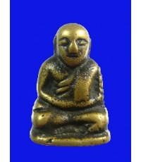รูปหล่อหลวงพ่อเงิน บางคลาน อาจารย์แจ๊ะ ปี 2472 เนื้อทองเหลือง หน้านกฮูก พิมพ์ใหญ่ สภาพเดิมๆจมูกสวย