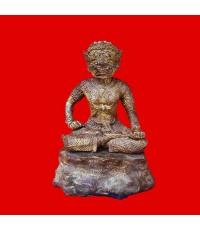 พระพิราพ ขนาดบูชา เนื้อสัมฤทธิ์ รุ่นแรก หลวงปู่กาหลง เขี้ยวแก้ว ปี 2550 พุทธคุณแรงมาก สุดหายาก
