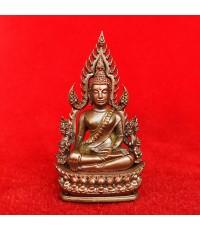 พระพุทธชินราช พิมพ์แต่งฉลุลอยองค์ รุ่นจอมราชันย์ เนื้อบรอนซ์นอก วัดพระศรีฯ เลข 6611 สุดสวย