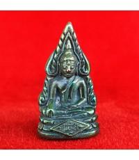 รูปหล่อพระพุทธชินราช พิมพ์เสาร์ ๕ เนื้อเมฆสิทธิ์ รุ่นจอมราชันย์  ผิวสีเขียวปีกแมลงทับ สวยมาก