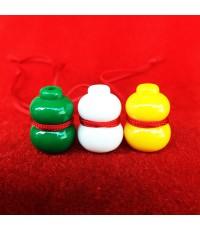 น้ำเต้าหลวงพ่อสด วัดปากน้ำ ชุด 3 สี 3 ลูก แบบที่ 3 รุ่น 100 ปี ภาพสี บูชาไว้เพื่อดูดทรัพย์ดีมาก