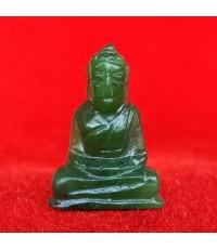 พระหินหยกแกะ พิมพ์พระพุทธ วัดธรรมมงคล สร้างโดยพระอาจารย์วิริยังค์ ปี 2536 สวยหายาก องค์ 1