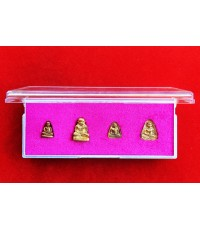 ชุดรูปหล่อ-เหรียญจอบ หลวงพ่อเงิน บางคลาน รุ่นเงินล้าน เนื้อทองเหลืองกะไหล่ทอง ปี 2535 หายาก