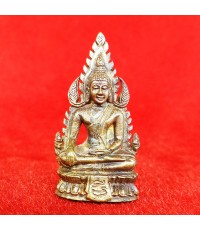 พระพุทธชินราชฐานผ้าทิพย์ รุ่นสุริยุปราคา หลวงพ่อมี วัดมารวิชัย ปี 2538 เนื้อสัมฤทธิ์ อุดผงกะลา 2