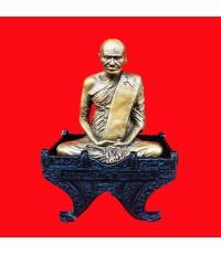 พระบูชา หลวงพ่อเงิน วัดบางคลาน 2 ถอด เนื้อทองเหลืองรมมันปู หน้าตัก 5 นิ้ว รุ่นตัดลูกนิมิต วัดห้วยเขน