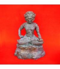 พระพิราพ ขนาดบูชา 5 นิ้ว เนื้อสัมฤทธิ์ รุ่นแรก หลวงปู่กาหลง เขี้ยวแก้ว ปี 2550 แรงมาก สุดหายาก