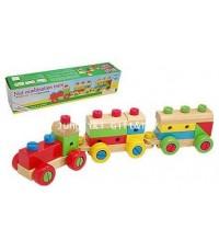 ของเล่นไม้ ชุดเครื่องมือช่างประกอบรถไฟ