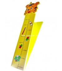 กระดานไม้วัดส่วนสูงเด็กแบบพับเก็บได้