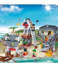 เลโก้บล็อกลุยเกาะโจรสลัด Pirate Island 440 ชิ้น