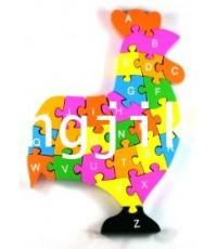 จิ๊กซอว์ไม้รูปสัตว์ปีก  เรียงตามอักษรอังกฤษและตัวเลข