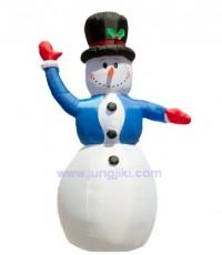 ตุ๊กตาหิมะสโนว์แมนเป่าลม  ประดับวันคริสมาสต์ ขนาดใหญ่สูง 240 cm.