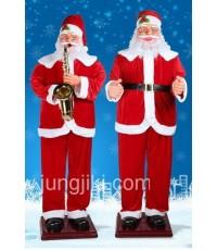 ตุ๊กตาซานตาครอสเป่าแตรชุด โยกส่ายพร้อมดนตรี ขนาดใหญ่สูง 180 cm