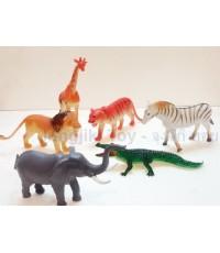 โมเดลตุ๊กตาสัตว์ป่า 6 ชนิด