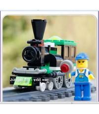 เลโก้จีนขบวนรถไฟพร้อมนายสถานี 185 ชิ้น