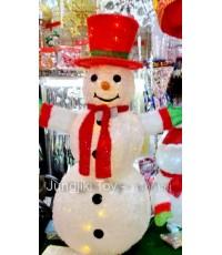 ตุ๊กตาหิมะทรงกลมพร้อมไฟกะพริบในตัวประดับวันคริสมาสต์ ขนาดใหญ่สูง 150 cm