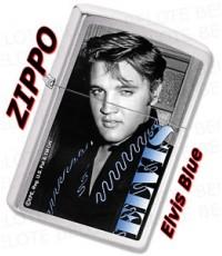 Zippo Elvis Blue. Brushed Chrome. (ZO28073)