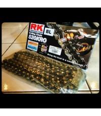 โซ่ RK 520 O-Ring สีดำหมุดทอง สวยเท่ โซ่แบรนดังจาก Japan