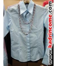 เสื้อเชิ้ตผู้หญิงแขนยาว ชุดทำงานผู้หญิง เชียงใหม่ D20W001