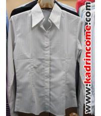 เสื้อเชิ้ตผู้หญิงแขนยาว ชุดทำงานผู้หญิง เชียงใหม่ D20W004