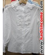เสื้อเชิ้ตผู้หญิงแขนยาว ชุดทำงานผู้หญิง เชียงใหม่ D20W023