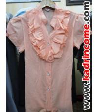 เสื้อเชิ้ตผู้หญิงแขนสั้น ชุดทำงานผู้หญิง เชียงใหม่ D20S001