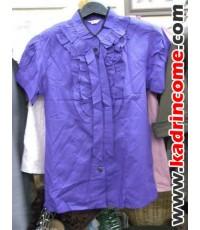 เสื้อเชิ้ตผู้หญิงแขนสั้น ชุดทำงานผู้หญิง เชียงใหม่ D20S010