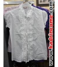 เสื้อเชิ้ตผู้หญิงแขนสั้น ชุดทำงานผู้หญิง เชียงใหม่ D20S011