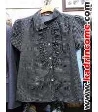 เสื้อเชิ้ตผู้หญิงแขนสั้น ชุดทำงานผู้หญิง เชียงใหม่ D20S014