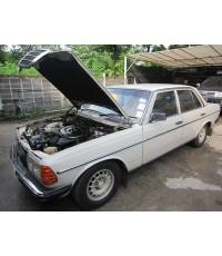 Benz 230E W123 ติดแก๊สระบบดูด Mixer K-Jet ถังแคปซูล75ลิตร