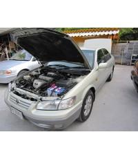 Toyota Camry ไฟท้ายตรง ไม้บรรทัด โฉมปี98-00 ติดแก๊สหัวฉีด Autogas Italy ถังแคปซูล76ลิตร