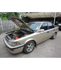 Toyota Corolla โดเรม่อน AE92 ปี88-92 ติดแก๊สระบบดูด Mixer คาบูเรเตอร์ ถังแคปซูล58ลิตร