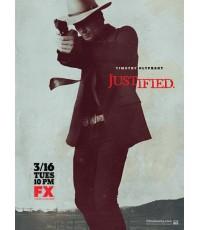 Justified season 1 ดีวีดี บรรยายไทย 7 แผ่น