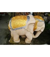 ช้างทรงเครื่อง  งวงลง  (ขนาดใหญ่)