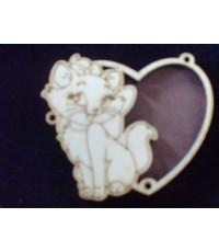 พวงกุญแจไม้รูปแมวMarie