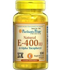 Puritan Pride Natural Vitamin E-400 IU 50 softgels. วิตามินอีให้ผิวนุ่มชุ่มชื่น ลดริ้วรอยเหี่ยวย่น