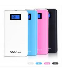 Power bank Golf 15600 mAh รุ่น GF-LCD06 หน้าจอ LCD แบตสำรองคุณภาพดีเยี่ยม ดีไซร์สวย ใช้วัสดุดี 4 สี